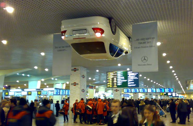 mercedes nailed in Moscow airport 1
