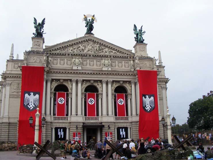 Nazi Flags in Kharkov 2