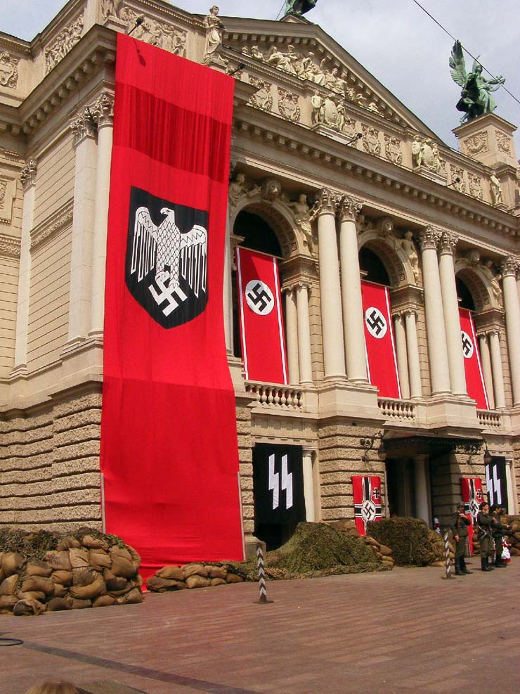 Nazi Flags in Kharkov 28