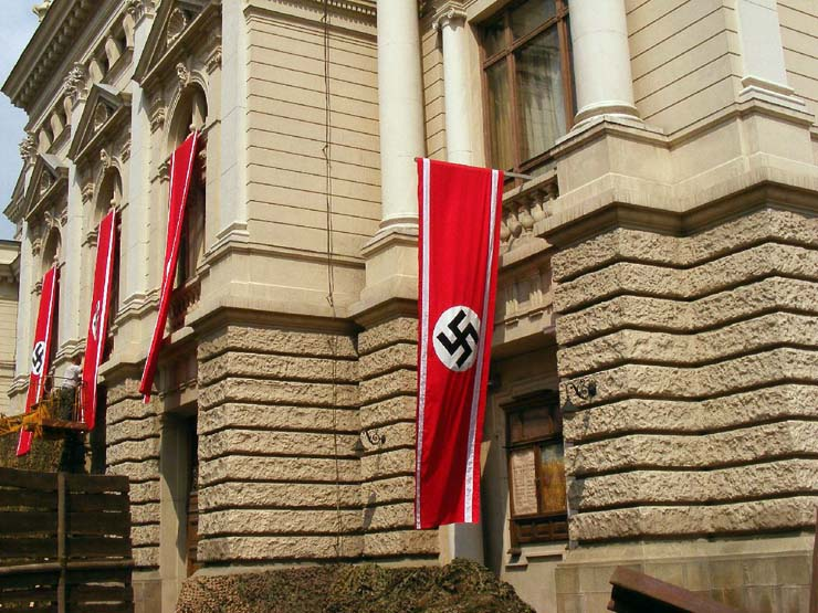 Nazi Flags in Kharkov 33