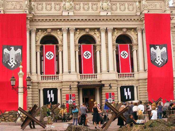 Nazi Flags in Kharkov 5