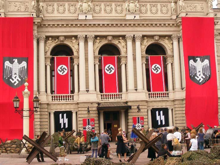 Nazi Flags in Kharkov 5
