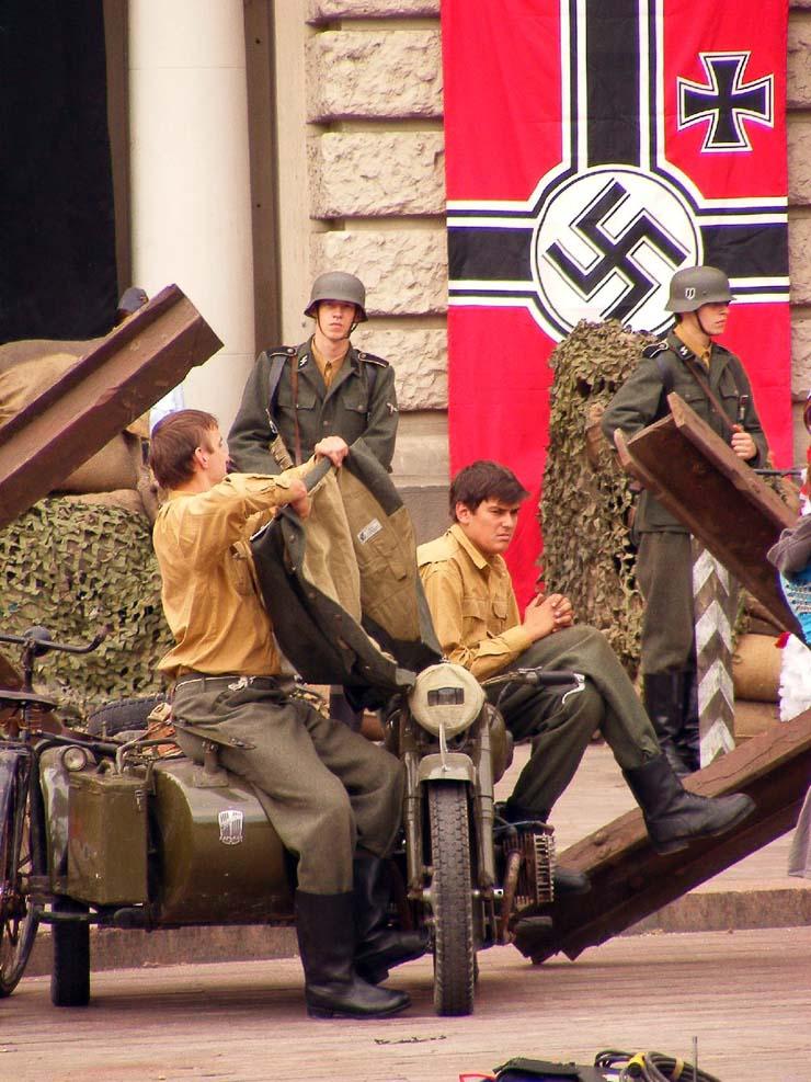 Nazi Flags in Kharkov 7