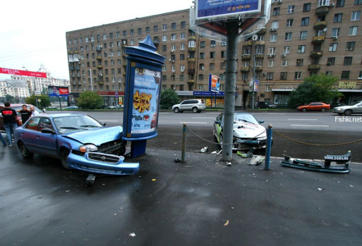street racing accident in the Moscow streets 5