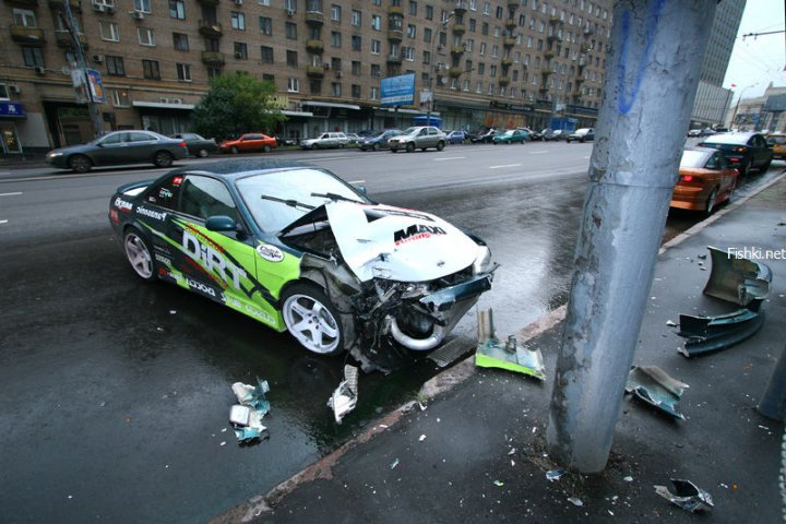 street racing accident in the Moscow streets 6