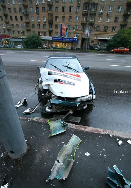 street racing accident in the Moscow streets 7