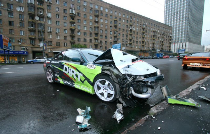 street racing accident in the Moscow streets 8