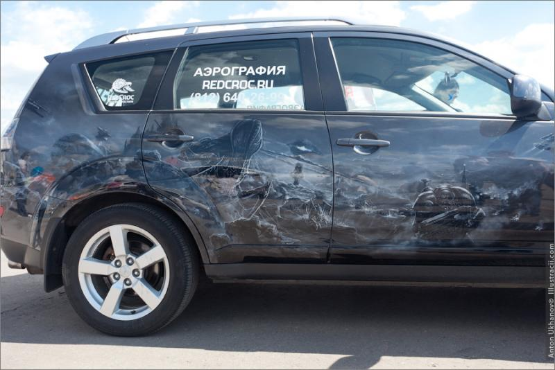 Russian Painted Cars 12