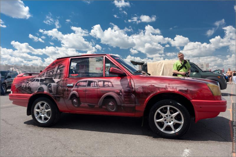 Russian Painted Cars 13