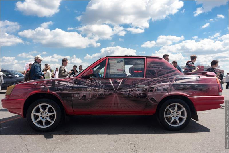 Russian Painted Cars 14
