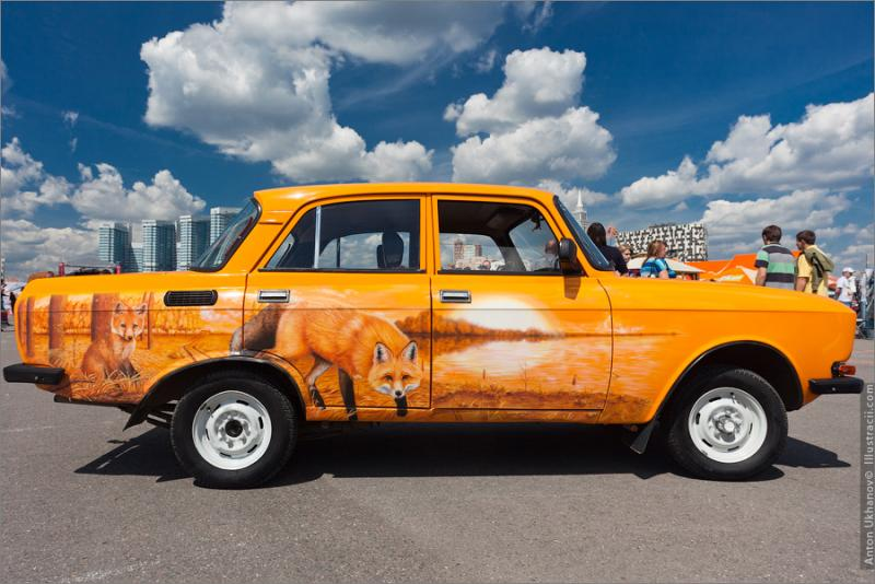 Russian Painted Cars 19