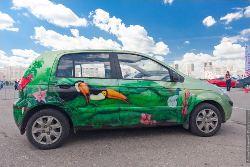 Russian Painted Cars 4
