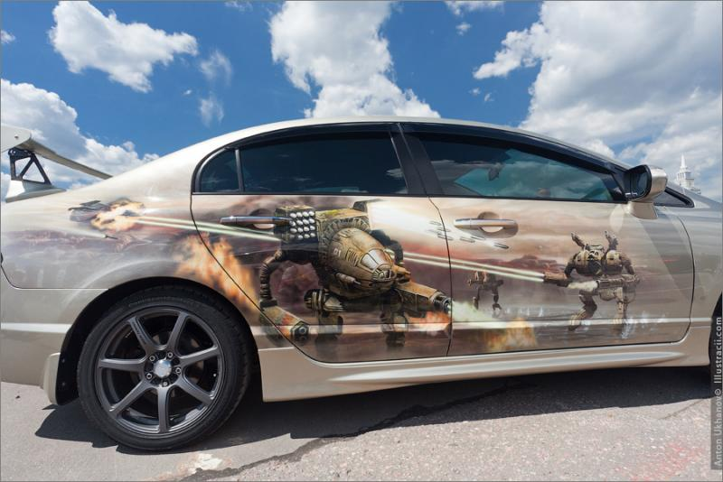 Russian Painted Cars 40