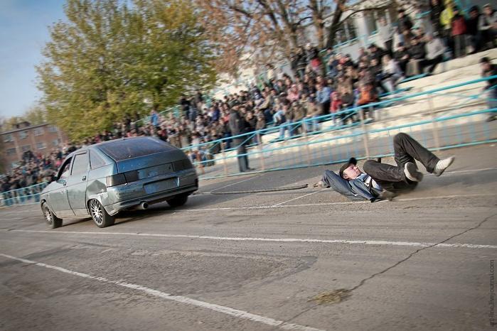 Stuntman Show In Rostov-On-Don