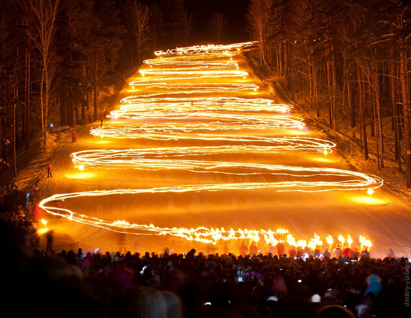 Torch Festival In Zheleznogorsk