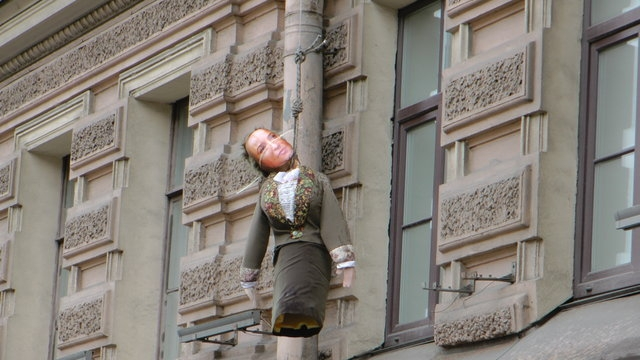 Hanging Dummy On The Main St. Petersburg Street
