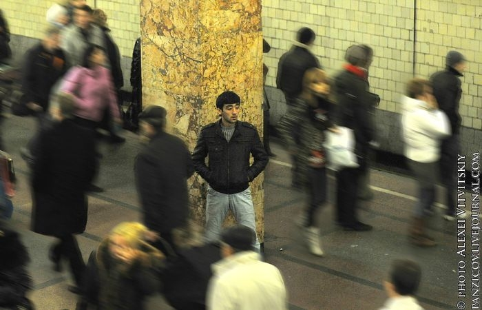 Illegal Market In A Moscow Subway Station