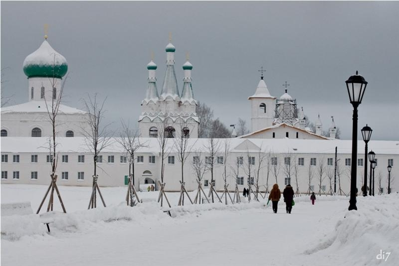 Russian Churches In Winter