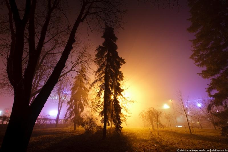 Night Fog In Kiev