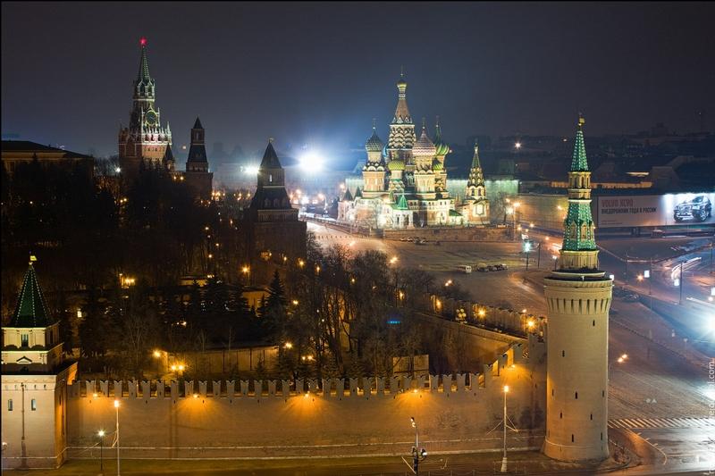 Unique Views Of Night Red Square