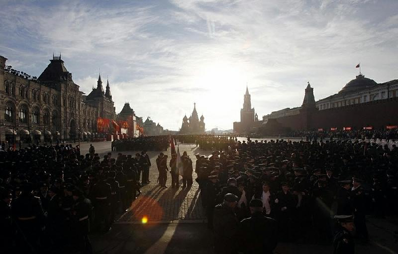 The Reconstruction Of 1941 War Parade In Moscow