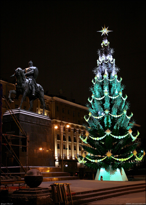 New Year Trees in Moscow, Russia 11