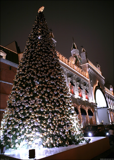 New Year Trees in Moscow, Russia 17