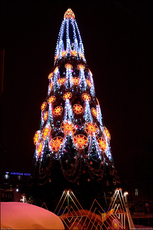 New Year Trees in Moscow, Russia 2