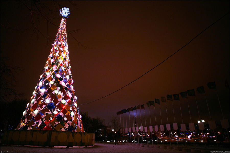 New Year Trees in Moscow, Russia 20