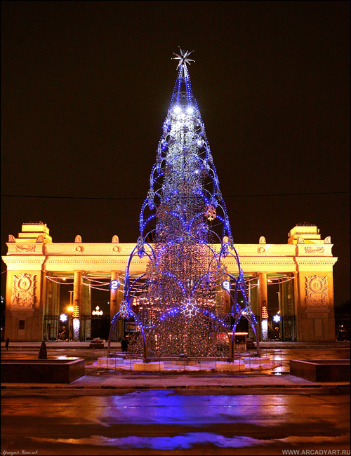 New Year Trees in Moscow, Russia 23