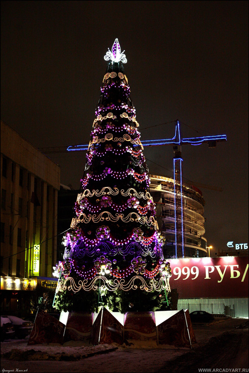 New Year Trees in Moscow, Russia 25