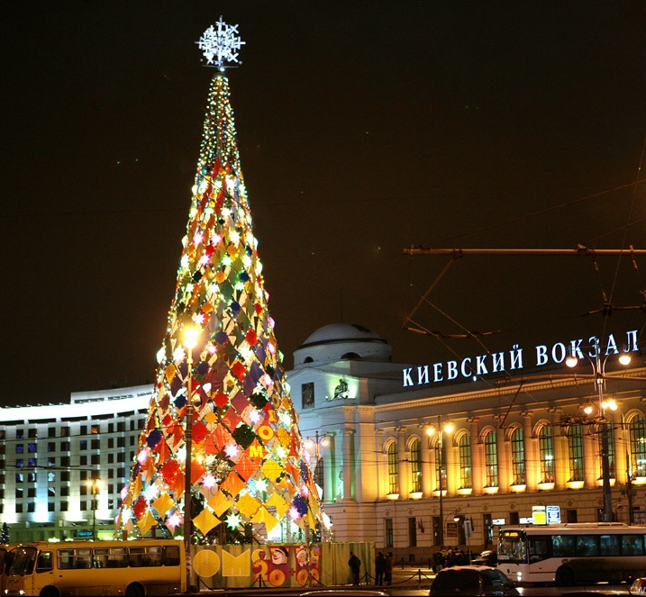 New Year Trees in Moscow, Russia 30