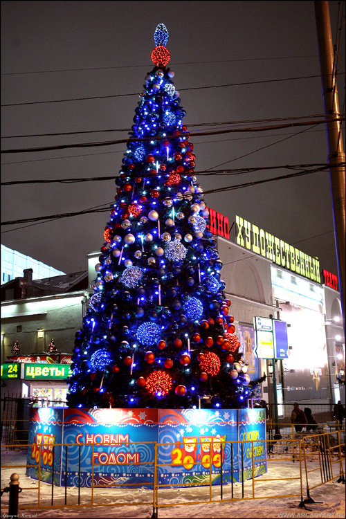New Year Trees in Moscow, Russia 35