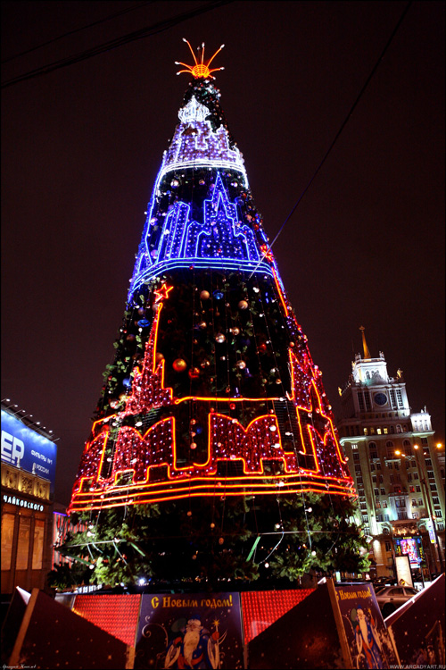 New Year Trees in Moscow, Russia 4