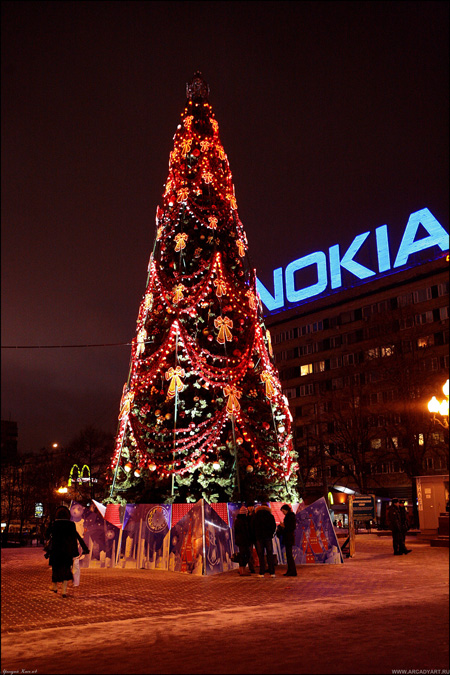 New Year Trees in Moscow, Russia 5