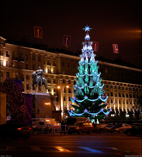 New Year Trees in Moscow, Russia 7