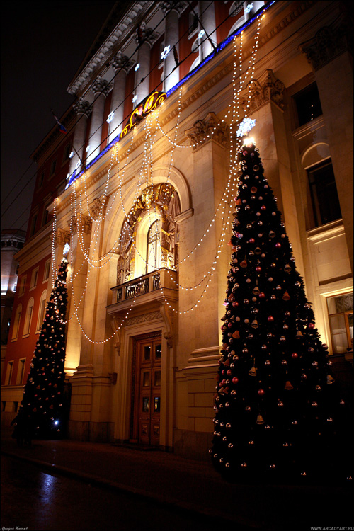 New Year Trees in Moscow, Russia 8