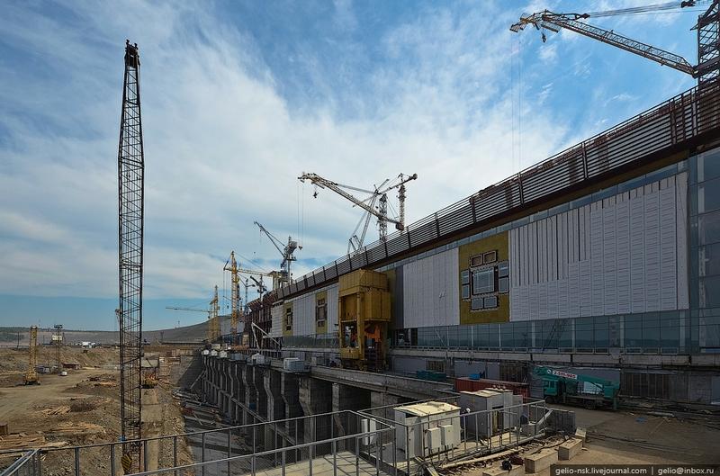 The Boguchanskaya Hydropower Station Under Construction
