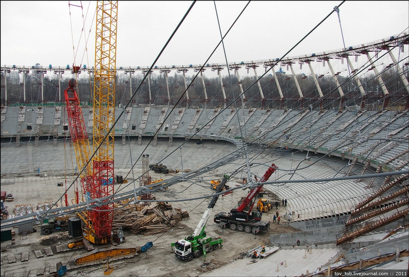 A Lifting Project In The Olympic Stadium