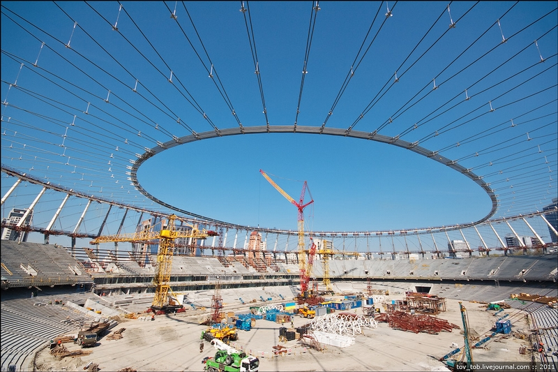 Assembling A Sports Complex In Ukraine
