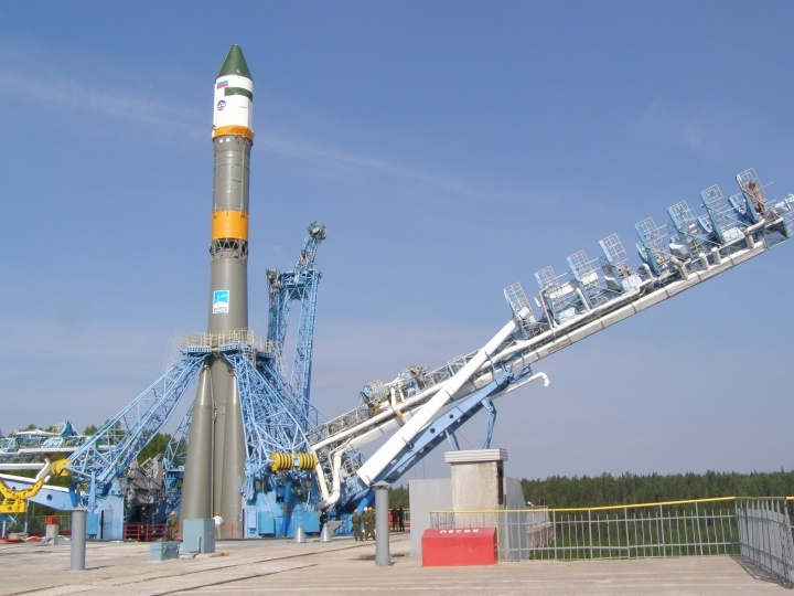 Rocket Launch In the Plesetsk Cosmodrome