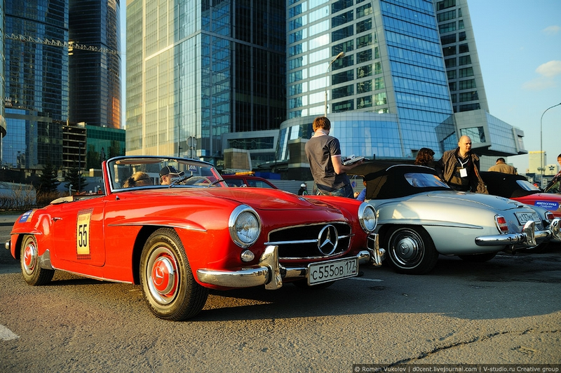 Retro Rally on Streets of Moscow