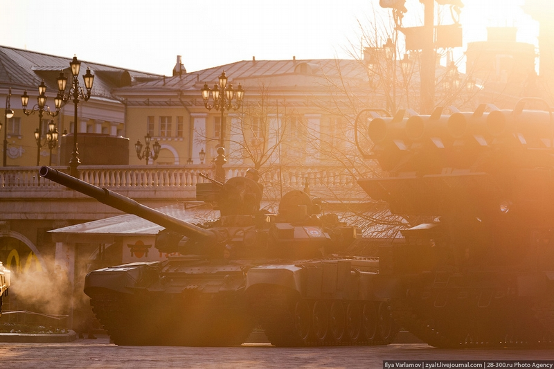 Rehearsal of the Military Parade on Red Square