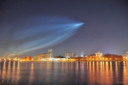 Night Glow Of The Soyuz Rocket