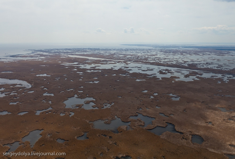 Flying Over The Volga Delta