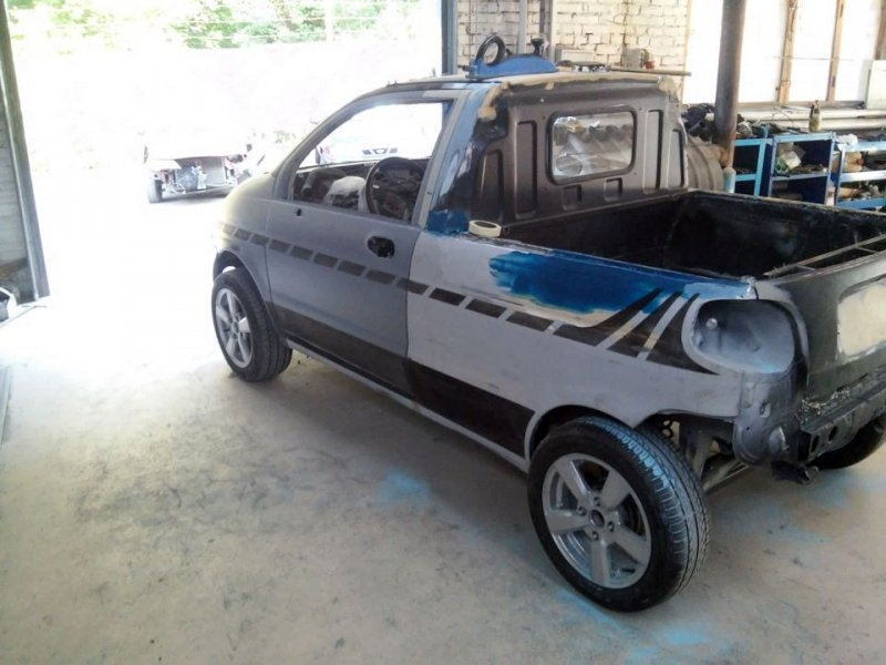 Selfmade pickup from the Daewoo Matiz
