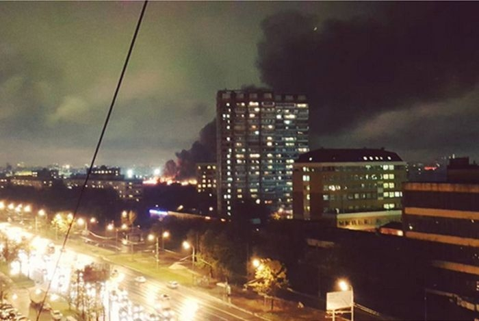 Big Fire in Moscow