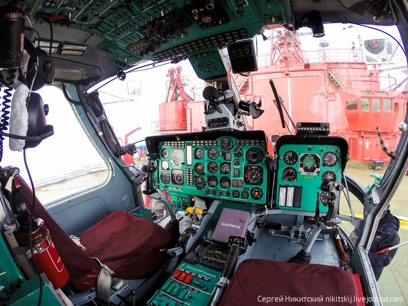 Russian Arctic Oil Drill: Polar Helicopters Based on Atomic Ice Breakers
