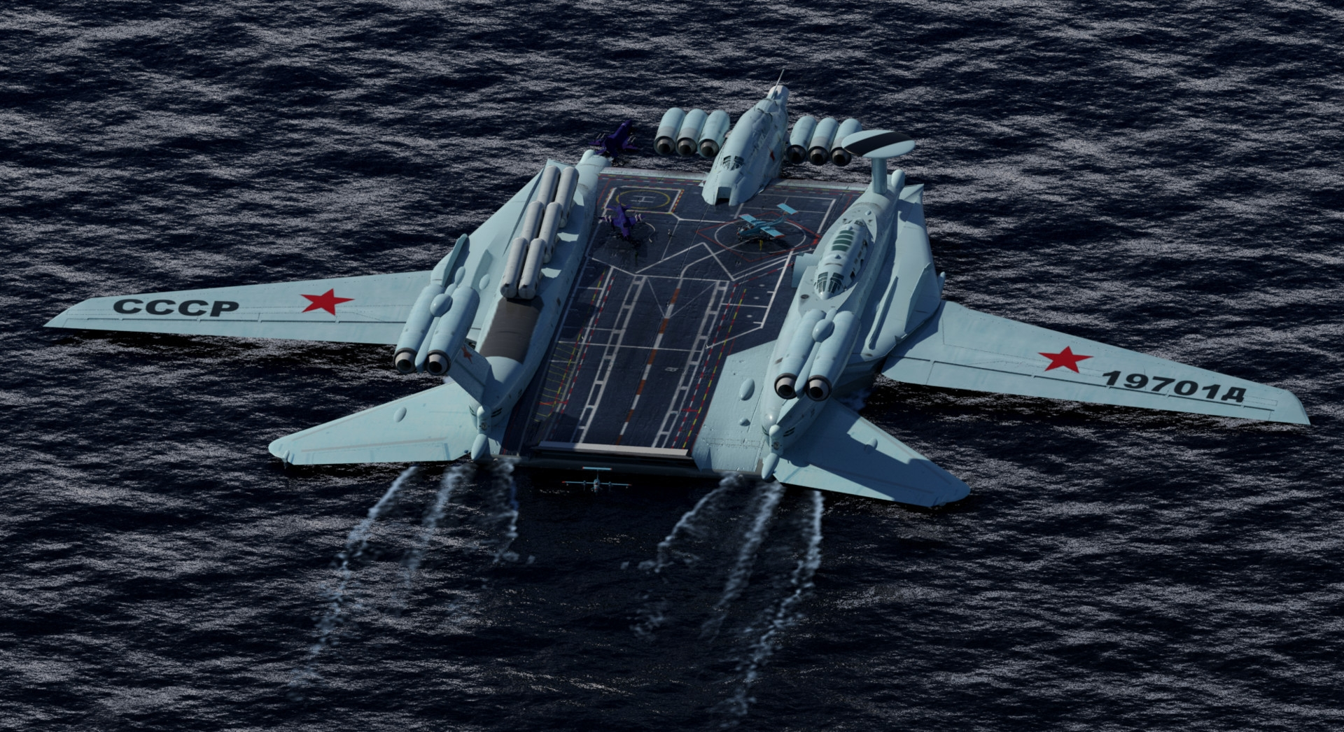 Awesome Soviet Ekranoplan Aircraft Carrier Project ...