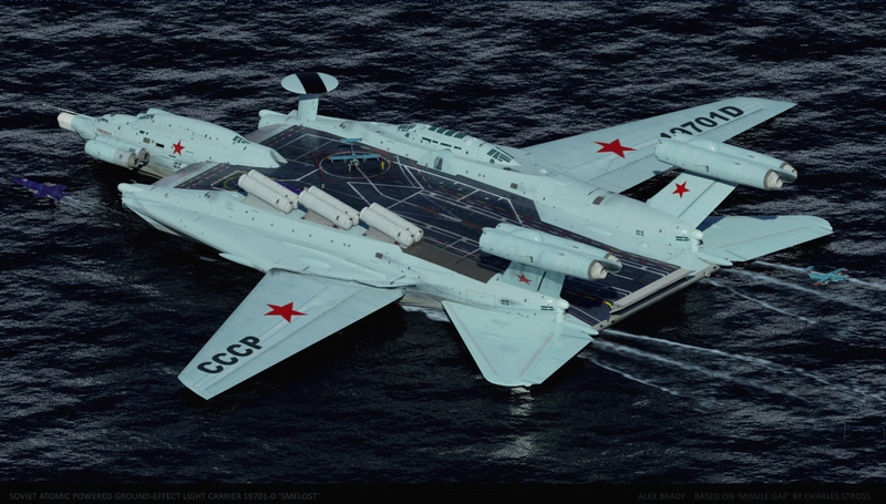 Awesome Soviet Ekranoplan Aircraft Carrier Project